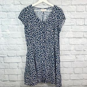 Band of Gypsies Floral Button Up Mini Dress L